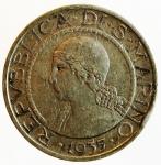 obverse: Zecche Italiane. San Marino. 5 Lire 1935. Ag. qSPL. ex Asta Tintinna 71, lotto 583, aggiudicata ma non pagata. s.v.