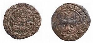 obverse: Zecche italiane - Venezia. Andrea Gritti. 1523-1538.Tornesello. MI. Peso gr. 0,42.MB-BB.