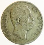obverse: Casa Savoia. Umberto I. 1878-1900. 2 Lire 1884. Roma. Ag. Peso 10,00 gr. Diametro 27,50 mm. qBB.