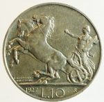 reverse: Casa Savoia. Vittorio Emanuele III. 1900-1943. 0 lire 1927 due rosette. AG.Pag. 692a. SPL.Segnetti altrimenti.