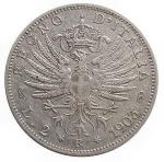 obverse: Casa Savoia - Vittorio Emanuele III. 1900-1946.2 Lire 1903. Ag. Pag. 727. MIR 1139c.RRR. §