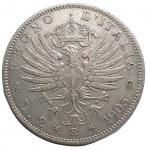 obverse: Casa Savoia - Regno di Italia. Vittorio Emanuele III. 1900-1943. 2 lire 1905. AG. Pag. 729. BB+. Colpettini.