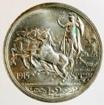 obverse: Casa Savoia. Vittorio Emanuele III. 1900-1943. 2 lire 1915. AG.Pag. 738. Mont. 155. qFDC.