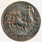 obverse: Casa Savoia. Vittorio Emanuele III. 1900-1943. 1 lira 1917 Quadriga briosa. Ag. Gig 139. SPL. s.v.