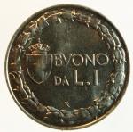 obverse: Casa Savoia. Vittorio Emanuele III. 1900-1943. Buono da 1 lira 1922. Ni. Pag. 776. FDC. s.v