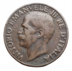 reverse: Casa Savoia - Vittorio Emanuele III. 1900-1943.5 centesimi 1919 Italia su prora. Ae. Gig. 265. BB+.