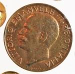reverse: Casa Savoia. Vittorio Emanuele III. 5 centesimi 1934. Ae.FDC. Rame rosso, periziata.