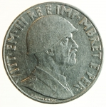 reverse: Casa Savoia. Vittorio Emanuele III. Albania. 1 Lek 1939. Ac.qSPL.