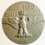 reverse: Medaglie. Casa Savoia. Ministero della Guerra. Ag. Diametro 40,00 mm.SPL\FDC.
