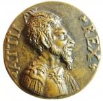 obverse: Medaglie. Aquileia. Medaglia del 1600. Attila e veduta della città. Diametro 50,00 mm. qFDC.RR.