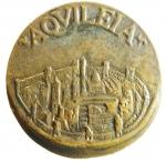 reverse: Medaglie. Aquileia. Medaglia del 1600. Attila e veduta della città. Diametro 50,00 mm. qFDC.RR.