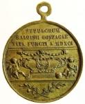 obverse: Medaglie. San Luigi Gonzaga. Visita al sepolcro. Ae. Peso 13,60 gr. Diametro 30,00 mm. BB.s.v.