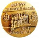 obverse: Medaglie. Milano 1999. IX Centenario della Translazione delle Ceneri di San Giovanni Battista. Peso 91,00 gr. Colombo. FDC.s.v.