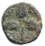 reverse: Mondo Greco - Lucania. Metaponto. ca 275-250 a.C. Ae. D/ Testa di Athena a destra con elmo corinzio. R/ Tre grani. HNItaly 1699. Peso gr. 1,66. Diametro mm. 12,8 x 13,4.qBB.