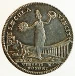 obverse: Medaglie. Parma. Filippo di Borbone. 1748-1765. Minerva stante. Coniata in Francia. Ag. Diametro 29,00 mm. SPL.