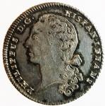 reverse: Medaglie. Parma. Filippo di Borbone. 1748-1765. Minerva stante. Coniata in Francia. Ag. Diametro 29,00 mm. SPL.