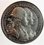 obverse: Medaglie. Parma. Giuseppe II d Asburgo Lorena. 1780-1790.Nozze di Giuseppe e Elisabetta di Borbone. Diametro 28,00 mm. SPL.