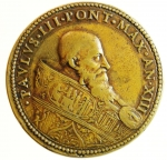 obverse: Medaglie. Roma. Paolo III. 1534-1549. Anno XII. Ae. Diametro 40,00 mm. Peso 39,16 gr. Ottimo BB.