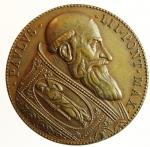 obverse: Medaglie. Paolo III. 1534-1549. Riconio del XIX secolo. La cacciata dei profanatori del tempio. Diametro 32,00 mm.SPL+\FDC.