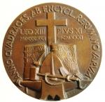 reverse: Medaglie. Leone XIII. PIO XI.Ae. Anno XL dell  Enciclica RERVM NOVARVM. Peso 45,70 gr. Diametro 35,00 mm.FDC.s.v.