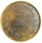 reverse: Medaglie. Gian Domenico Romagnosi.Giurista. Diametro 44,00 mm. SPL.