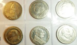 obverse: Medaglie. Lotto di 6 medaglie papali. Buone Conservazioni.gf
