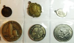 obverse: Medaglie.Lotto di 6 medaglie religiose, Santuario di Sant  Alessandro. Ottime Conservazioni.gf