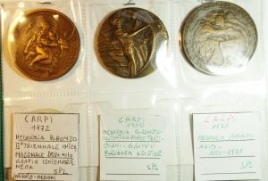 obverse: Medaglie.Lotto di 3 medaglie in Ae di Carpi. Ottime conservazioni. gf