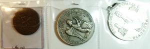 obverse: Medaglie.Lotto di 3 medaglie Varie tra cui Piacenza e ministero Poste e telecomunicazioni. Ottime conservazioni. gf