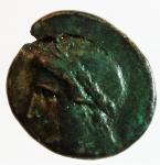 obverse: Mondo Greco. Lucania. Thurium. 270-240 a.C. Bronzo. D/ Testa di Apollo verso sinistra. R/ ΘΟΥΡΙΩΝ Lira. SNG ANS 1278. Peso 3,15 gr. Diametro 17,00 mm. BB+.ç