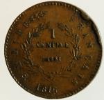reverse: Monete Estere. Francia.Napoleone II.1816. Prova. Centesimo di prova 1816. SPL.