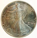 reverse: Monete Estere. Stati Uniti.1991. 1 Oz. In confezione originale.FDC.s.v.