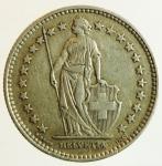 reverse: Monete Estere. Svizzera. 2 Franchi 1939. Ag. Peso 10,00 gr. qSPL. Patina.