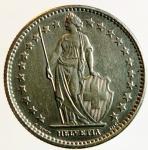 reverse: Monete Estere. Svizzera. 2 franchi 1967. Ag. SPL