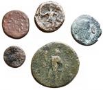 reverse: Lotti - Mondo Greco e Romano insieme di 5 esemplari Illyria Ballaios gr 2,95 Panormos Demetra gr 1,99 Rare Syracuse Octopus gr 3,39 Gela Onkia gr 1,01 Rare Diadumedian As gr 7,89 Rare