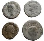 obverse: Lotti - Impero Romano. Augusto, Germanico, Vespasiano, Antonino Pio. Lotto di 4 Medi Bronzi.§