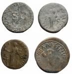 reverse: Lotti - Impero Romano. Augusto, Germanico, Vespasiano, Antonino Pio. Lotto di 4 Medi Bronzi.§