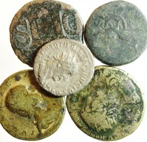 obverse: Lotti. Lotto di 5 monete di epoca imperiale. MB.w