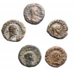 obverse: Lotti - Mondo Romano. Egitto. Alessandria. Tetradrammi in Billon. Lotto di 5 esemplari.