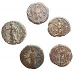 reverse: Lotti - Mondo Romano. Egitto. Alessandria. Tetradrammi in Billon. Lotto di 5 esemplari.