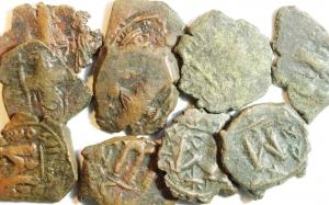 obverse: Lotti. Arabo-Bizantine.Lotto di 10 monete. Mediamente.MB+.w