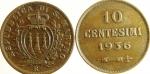 reverse: Lotti. San Marino. Lotto di 2 monete da 5 centesimi 1935\36. Ottima conservazione.