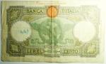 reverse: Cartamoneta.Serie speciale Africa Orientale Italiana. 100 Lire.Serie R23 1873. MB. R.s.v.