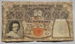 obverse: Cartamoneta - Banco di Napoli. 50 lire 1915. BB.Forellini.