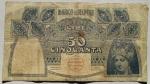 reverse: Cartamoneta - Banco di Napoli. 50 lire 1915. BB.Forellini.