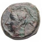 obverse: Mondo Greco - Sicilia.Camarina.ca425-405 a.C.Tetras.Ae. Pesogr. 3,79.Diametromm. 14,7. BB+.