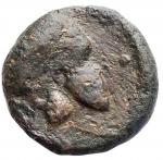 obverse: Mondo Greco - Sicilia. Entella.ca 345-338 a.C.Hexas.Ae. D/ Elmo a destra. R/ Cavallo a destra. Calciati 14. Campana 12 var. Diametro mm. 17,2. Peso gr. 5,15.qBB.