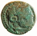 obverse: Mondo Greco. Sicilia. Katane. 413-212 a.C.AE 21. dopo il 241 a.C. D/ Testa di Zeus Ammone a destra. R/ Aequitas stante a sinistra. Calc. 17. BB.^