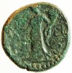 reverse: Mondo Greco. Sicilia. Katane. 413-212 a.C.AE 21. dopo il 241 a.C. D/ Testa di Zeus Ammone a destra. R/ Aequitas stante a sinistra. Calc. 17. BB.^