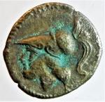obverse: Mondo Greco. Apulia. Arpi. 215-212 a.C. Triobolo. Ag. D/ Testa di Athena a sinistra. R/ Tre spighe d orzo disposte a raggiera. Nei settori AP-Π-A. HN(Italy) 646. SNG Cop. 601. Peso gr. 1,5. Diametro mm. 16,7. BB. RR. §.